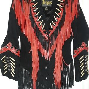Suede and Leather Fringe Jacket